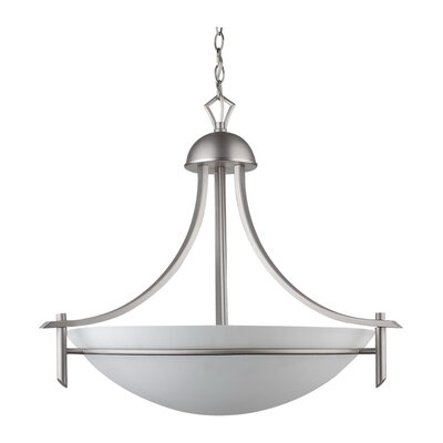 Kelsey 3-Light Bowl Pendant Finish: Oil Rubbed Bronze, Size: 20 H x 22 W x 21 D