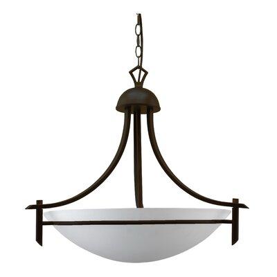 Kelsey 3-Light Bowl Pendant Finish: Oil Rubbed Bronze, Size: 20 H x 18 W x 18 D