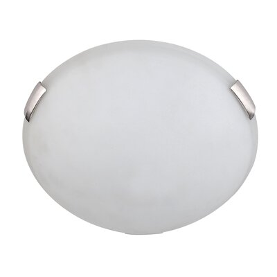 Charlie 2-Light Flush Mount Finish: Satin Steel