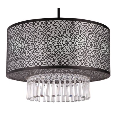 Willem 3-Light Drum Chandelier Finish: Chrome, Size: 39 H x 20 W x 12 D