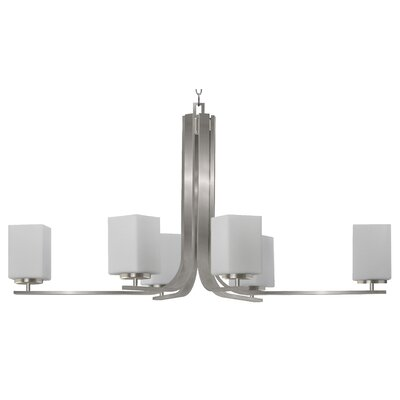 Chianna 6-Light Shaded Chandelier Finish: Satin Steel