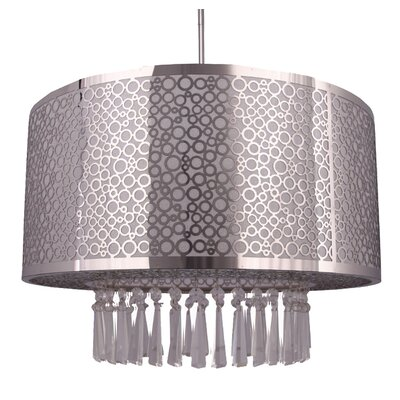 Willem 3-Light Drum Chandelier Size: 39 H x 16 W x 12 D, Finish: Chrome