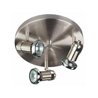Sheldon 3-Light Spot Light Finish: Chrome/Satin Steel