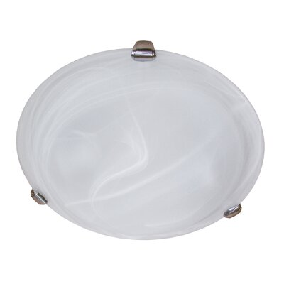 Lily 2-Light Flush Mount Finish: Satin Steel