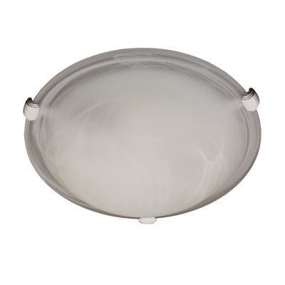 Lily 2-Light Flush Mount Finish: White