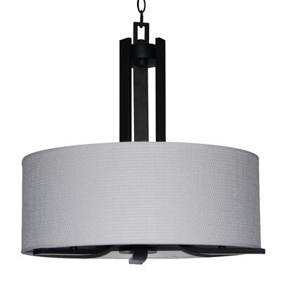 Carmen 3-Light Drum Pendant Finish: Ebony Bronze