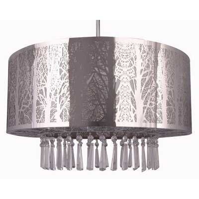 Whisper 3-Light Crystal Chandelier Finish: Chrome, Size: 39 H x 16 W x 12 D