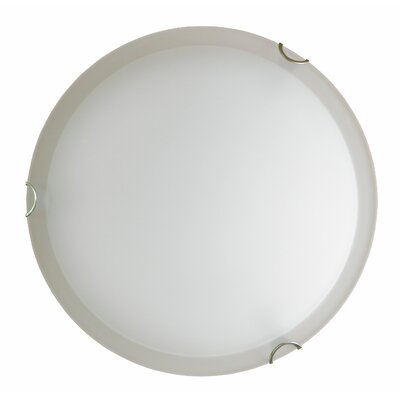 Dina 2-Light Flush Mount Finish: Satin Steel