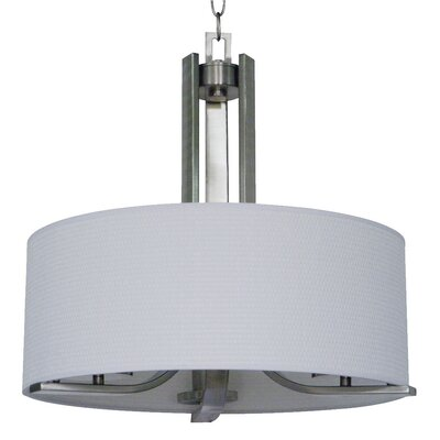 Carmen 3-Light Drum Pendant Finish: Satin Steel