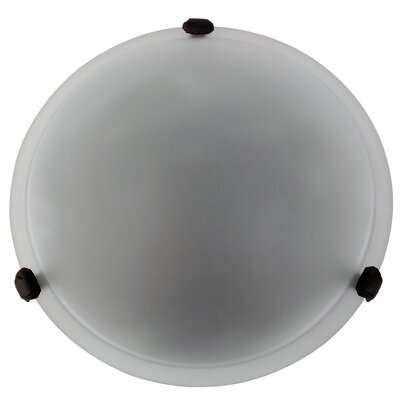 Madison 2-Light Flush Mount Finish: Black