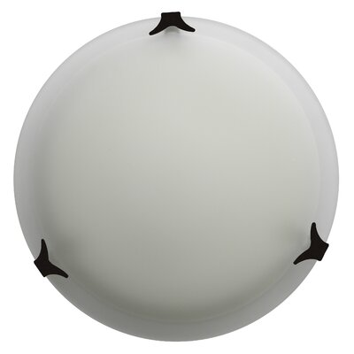 Donna 2-Light Flush Mount Finish: Ebony Bronze