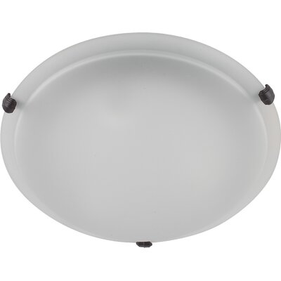 Madison 2-Light Flush Mount Finish: Ebony Bronze