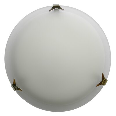 Donna 2-Light Flush Mount Finish: Satin Steel