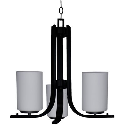Carmen 3-Light Shaded Chandelier Finish: Ebony Bronze