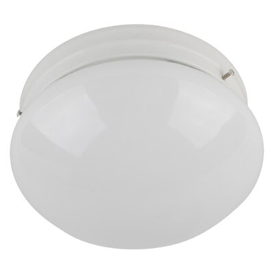 Shroom 1-Light Flush Mount Finish: White