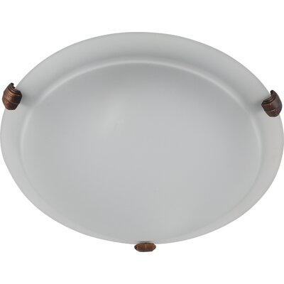 Madison 3-Light Flush Mount Finish: Coffee