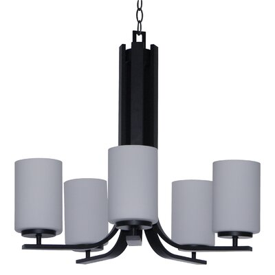Carmen 5-Light Shaded Chandelier Finish: Ebony Bronze
