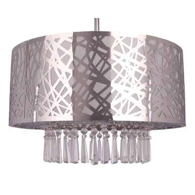 Clarens 3-Light Crystal Chandelier Finish: Chrome, Size: 39 H x 20 W x 12 D