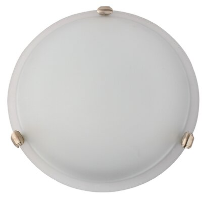 Madison 3-Light Flush Mount Finish: Satin Steel