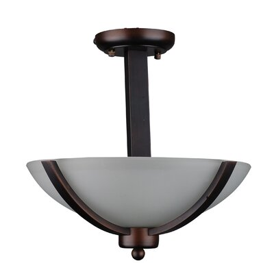 Mickayla 2-Light Semi Flush Mount Finish: Coffee
