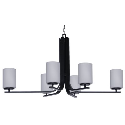 Carmen 6-Light Shaded Chandelier Finish: Ebony Bronze