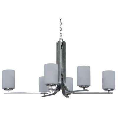 Carmen 6-Light Shaded Chandelier Finish: Satin Steel