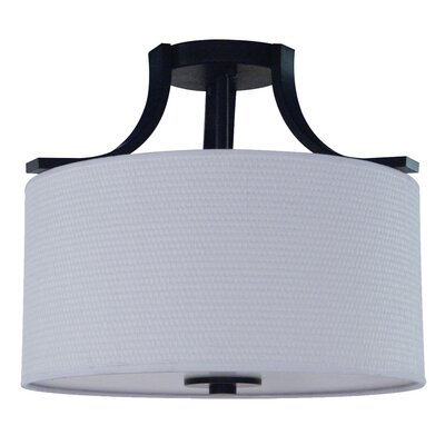 Carmen 2-Light Semi Flush Mount Finish: Ebony Bronze