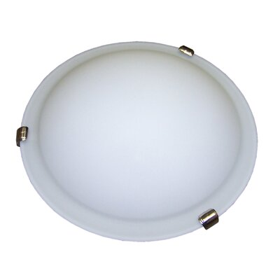 Linda 3-Light Flush Mount Bulb Type: 13W GU24 CFL (included), Energy Star: Yes, Finish: Satin Nickel