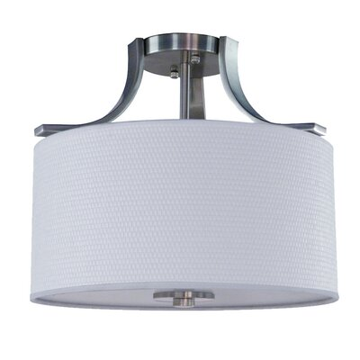 Carmen 2-Light Semi Flush Mount Finish: Satin Steel