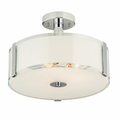 Perkinson 3-Light Glass Shade Semi Flush Mount