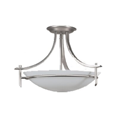 Kelsey 2-Light Semi Flush Mount Finish: Brushed Pewter