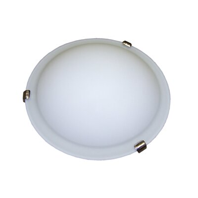 Linda 2-Light Flush Mount Finish: Satin Nickel, Bulb Type: 60W (not included), Energy Star: No