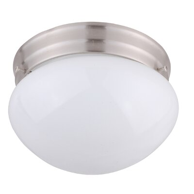 Shroom 1-Light Flush Mount Finish: Satin Steel