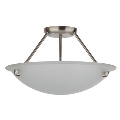 Kirsten 3-Light Semi Flush Mount
