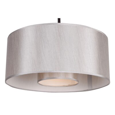 Samantha 1-Light Drum Pendant Size: 35 H x 16 W x 8 D, Finish: Ebony Bronze, Shade Color: Toffee Crunch