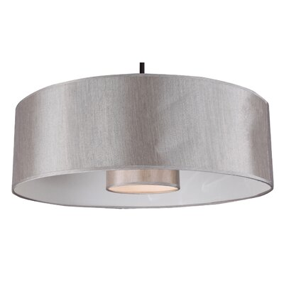 Kilpatrick 1-Light Drum Pendant Finish: Ebony Bronze, Shade Color: Toffee Crunch, Size: 35 H x 22 W x 8 D