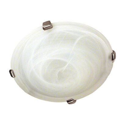 Lily 4-Light Flush Mount Finish: Satin Steel