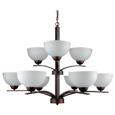 Mickayla 9-Light Candle-Style Chandelier Finish: Coffee