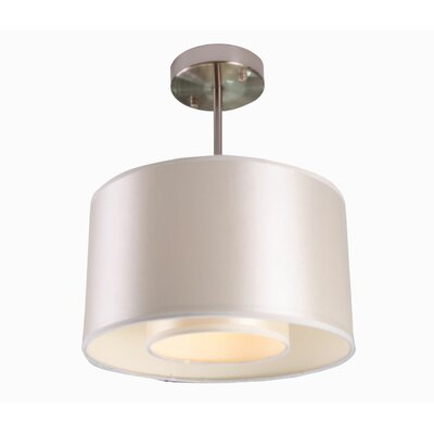 Kilpatrick 1-Light Metal Drum Pendant Shade Color: Pristine White