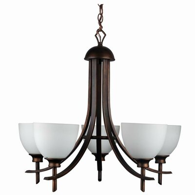 Kelsey 5-Light Shaded Chandelier Finish: Oil Rubbed Bronze