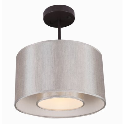 Kilpatrick 1-Light Metal Drum Pendant Shade Color: Toffee Crunch