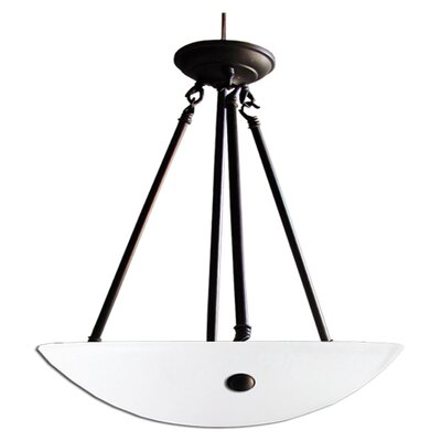 Kirsten 3-Light Bowl Pendant Finish: Ebony Bronze, Shade Color: Acid Wash, Size: 24 H x 16 W x 18 D