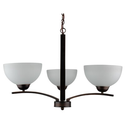 Mickayla 3-Light Shaded Chandelier Finish: Coffee, Bulb Type: 60W (not included), Energy Star: No