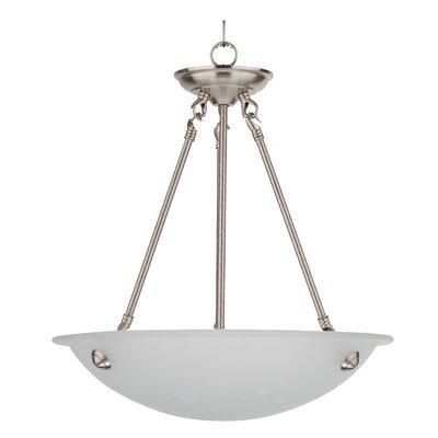 Austin 3-Light Bowl Pendant Finish: Satin Steel, Size: 21 H x 20 W x 21 D