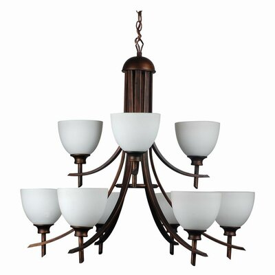 Kelsey 9-Light Shaded Chandelier Finish: Oil Rubbed Bronze