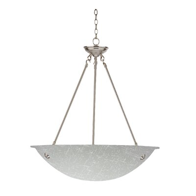 Auron 3-Light Inverted Pendant Finish: Satin Steel, Size: 60 H x 16 W x 16 D