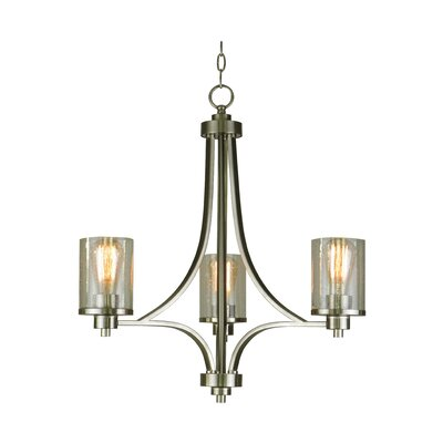 Iris 3-Light Candle-Style Chandelier