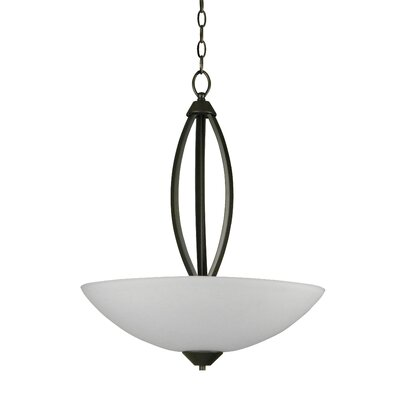 Anna 3-Light Inverted Pendant Finish: Old Silver