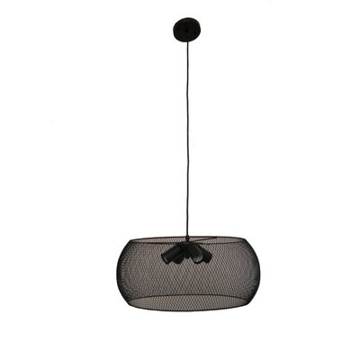 Peter 4-Light Drum Pendant Finish: Black