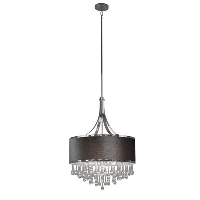 Mindy 4-Light Drum Pendant Shade Color: Gray